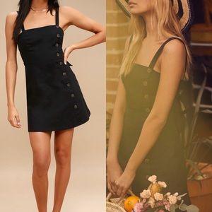 NWT Louetta Black Button Down Mini Dress